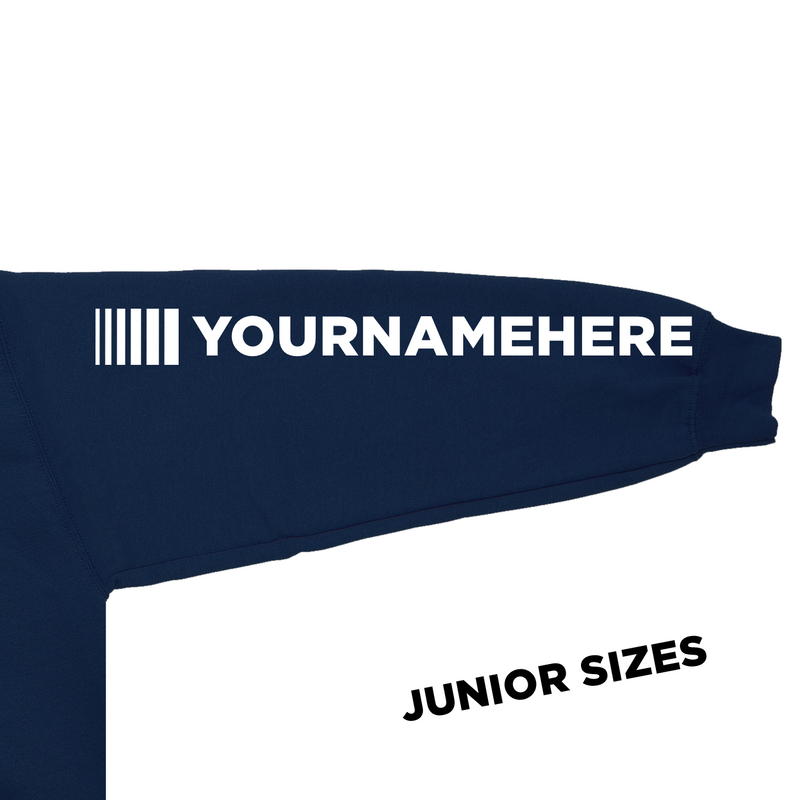 Junior DVG Personalisation Hoodie Oxford Navy (White Writing)