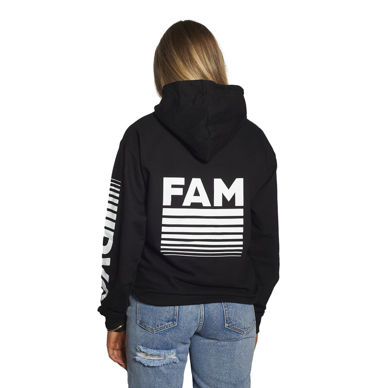 ADULT DVG Fam Retro Hoodie in Black / White