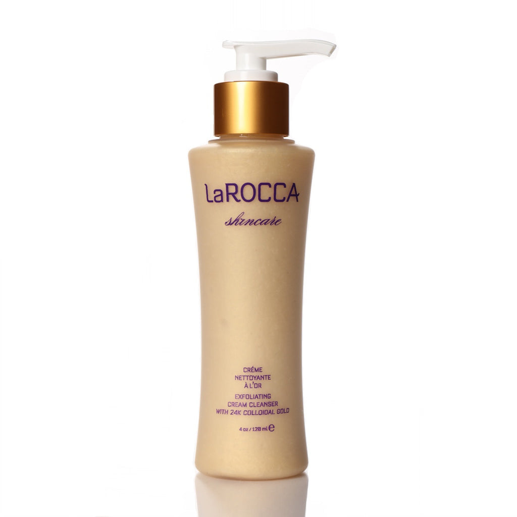 Exfoliating Cream Cleanser with 24K Gold