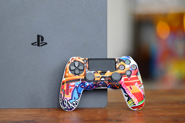 graffiti style ps4 controller skin for dualshock 4