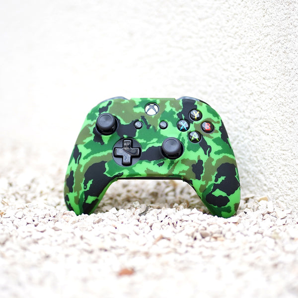 bright green xbox one controller skin made of silicone