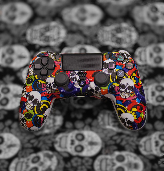 sugar skulls day of the dead ps4 controller skin case