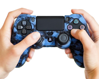 blue skulls bones ps4 silicone controller cover case skin grip