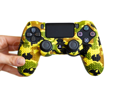 yellow camouflage camo ps4 controller cover case skin grip