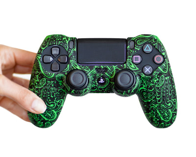 decorative pattern ps4 controller silicone skin cover case grip