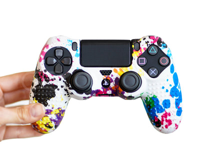 splatter paint psychedelic ps4 silicone case