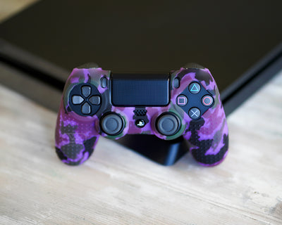 controller grips for ps4 camo purple
