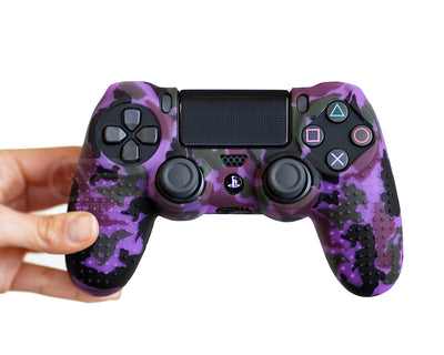 purple camo ps4 silicone controller grip