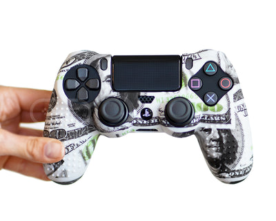 money cash dollars ps4 silicone controller skin cover case