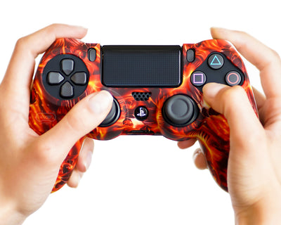 fire flames ps4 silicone controller skin cover case