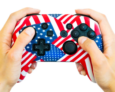 Nintendo switch pro american flag usa silicone controller skin case