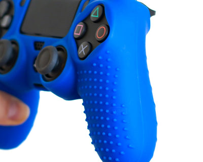 blue controller cover grips for ps4