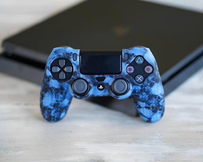 skulls ps4 skin silicone case cover grip