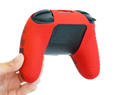 red silicone controller skin for nintendo switch pro