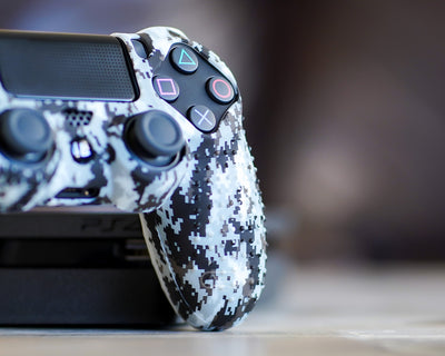 digital camo snow ps4 silicone case cover