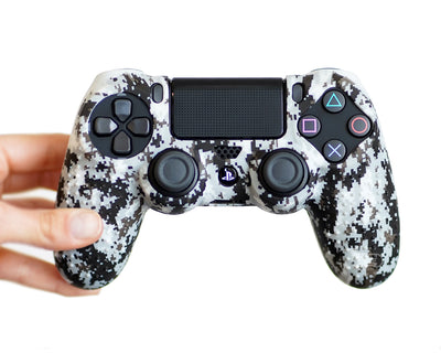 snow digital camo playstation4 silicone controller case cover