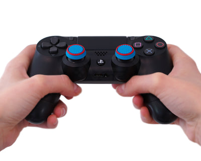 ps4 thumbsticks blue green grips