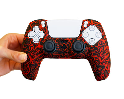 red flower nature ps5 dualsense controller skin