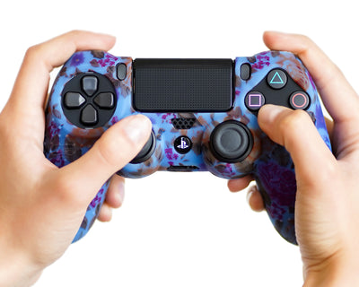 floral flowers ps4 controller silicone skin case cover grip