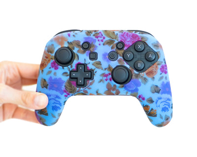 roses floral nintendo switch pro controller skin cover case grip wrap