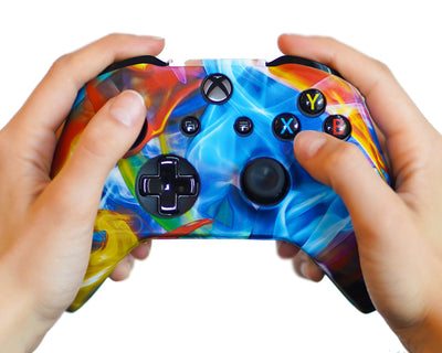 space galaxy xbox one controller skin silicone