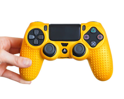 matte gold ps4 controller skin cover case wrap grip
