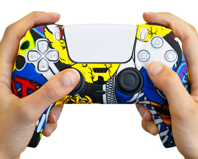 graffiti art playstation 5 ps5 dualsense controller case silicone
