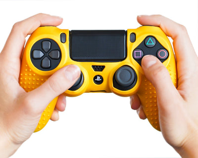 matte-gold-ps4-controller-skin-silicone-case-cover-wrap-grips