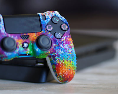 paint splatter ps4 silicone controller case cover skin grip