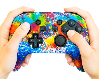 paint splatter nintendo switch pro silicone skin cover case