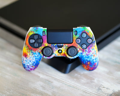 vgfgamers proflex paint splatter silicone case skin wrap cover