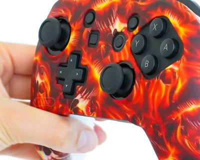 switch pro controller skin silicone fire grip