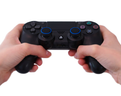 ps4 accuracy thumbsticks black with blue stripe