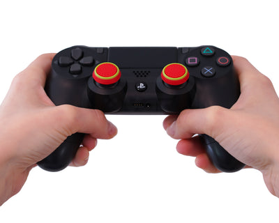 ps4 dualshock4 thumb sticks red green grips accuracy