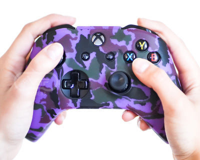 purple camo xbox one silicone controller skin cover case