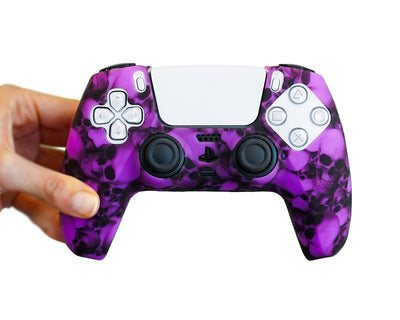purple skulls ps5 controller dualsense bones skeleton