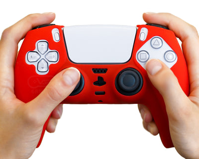 red-ps5-controller-skin-silicone