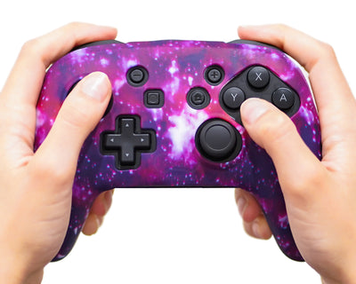 space galaxy nintendo switch pro controller case cover skin