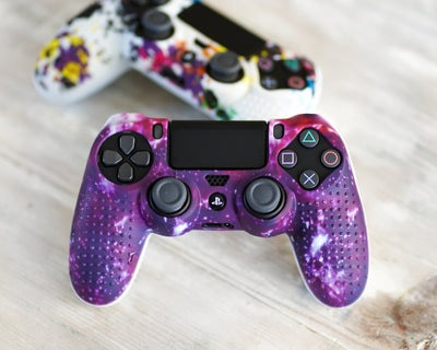 space galaxy ps4 silicone controller skin