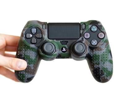 stealth camo black ps4 controller cover wrap grips skin