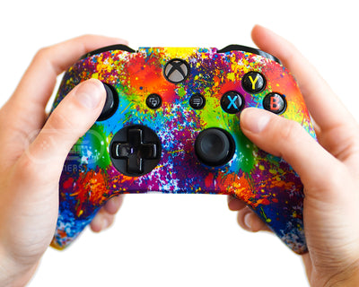 paint splatter xbox one silicone controller case skin cover wrap