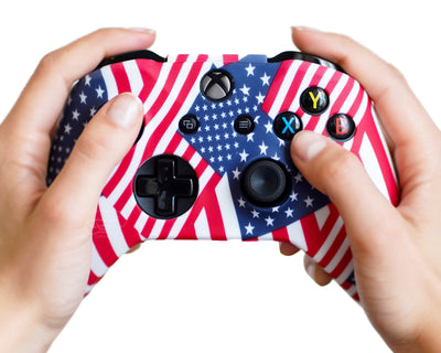 american flag xbox one controller silicone case cover wrap skin