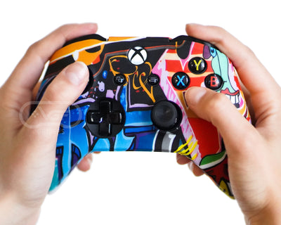xbox one graffiti art controller skin cover case
