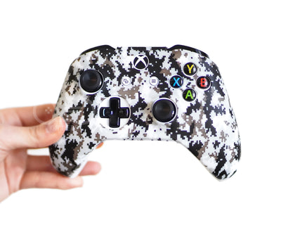 xbox one controller skin cover case white digital camo snow