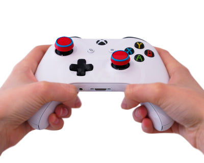 xbox one s x thumbsticks red blue grips accuracy