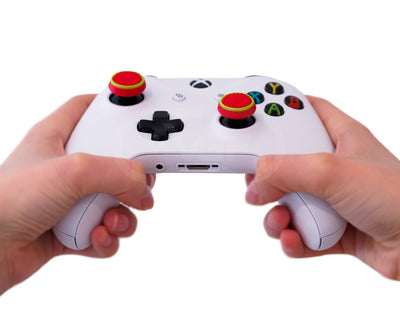 xboxone thumb sticks red blue grips accuracy