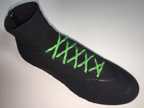 SR4U Laces Reflective Kelly Green