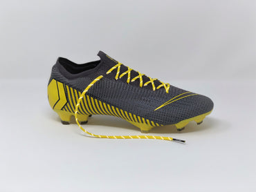 SR4U Reflective Yellow Laces on Nike Mercurial Vapor 12 Elite Game Over Pack