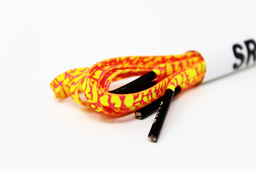 SR4U Laces Neon Yellow/Neon Pink Crackle Premium