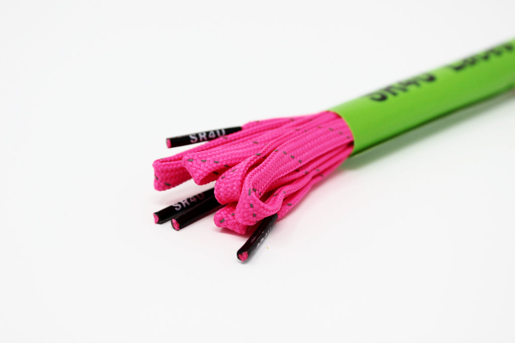 WIDE SR4U Laces Neon Pink Reflective